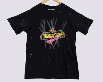 VTG Universal Studios Hollywood T-Shirt - Large - All Over Print - 90s Clothing - Movie Shirt - California Vintage Tee - Vintage Clothing -
