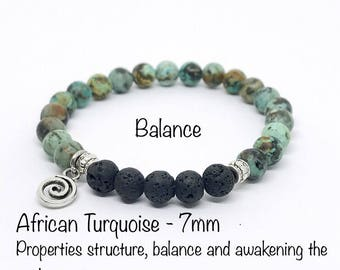 Balance African Turquoise Essential oil bracelet