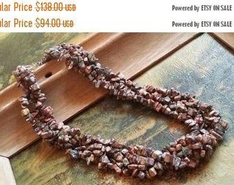 Holiday SALE 85 % OFF Jasper Chip Necklace  Gemstone  18K White Gold Plated  Sale