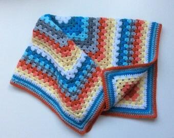 Vintage style baby blanket / granny square