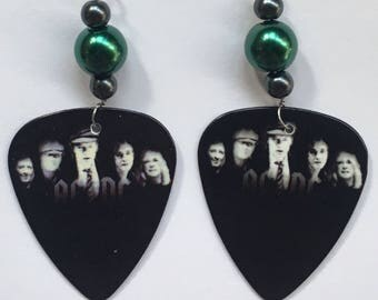 1 Pair- AC/DC Guitar Pick Earrings
