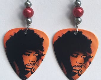 1 Pair- Jimi Hendrix Guitar Pick Earrings