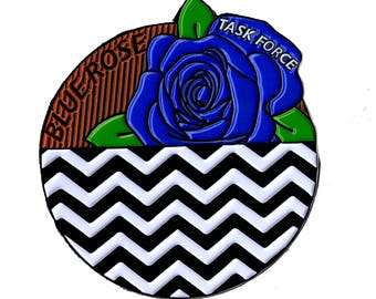 Twin Peaks Pin Blue Rose Black Lodge and Red Room