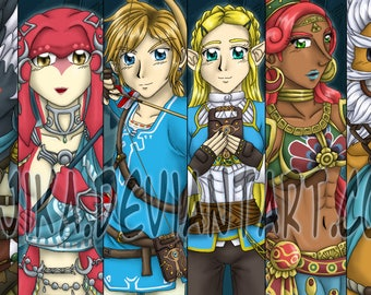 Breath of the Wild Guardians Bookmarks