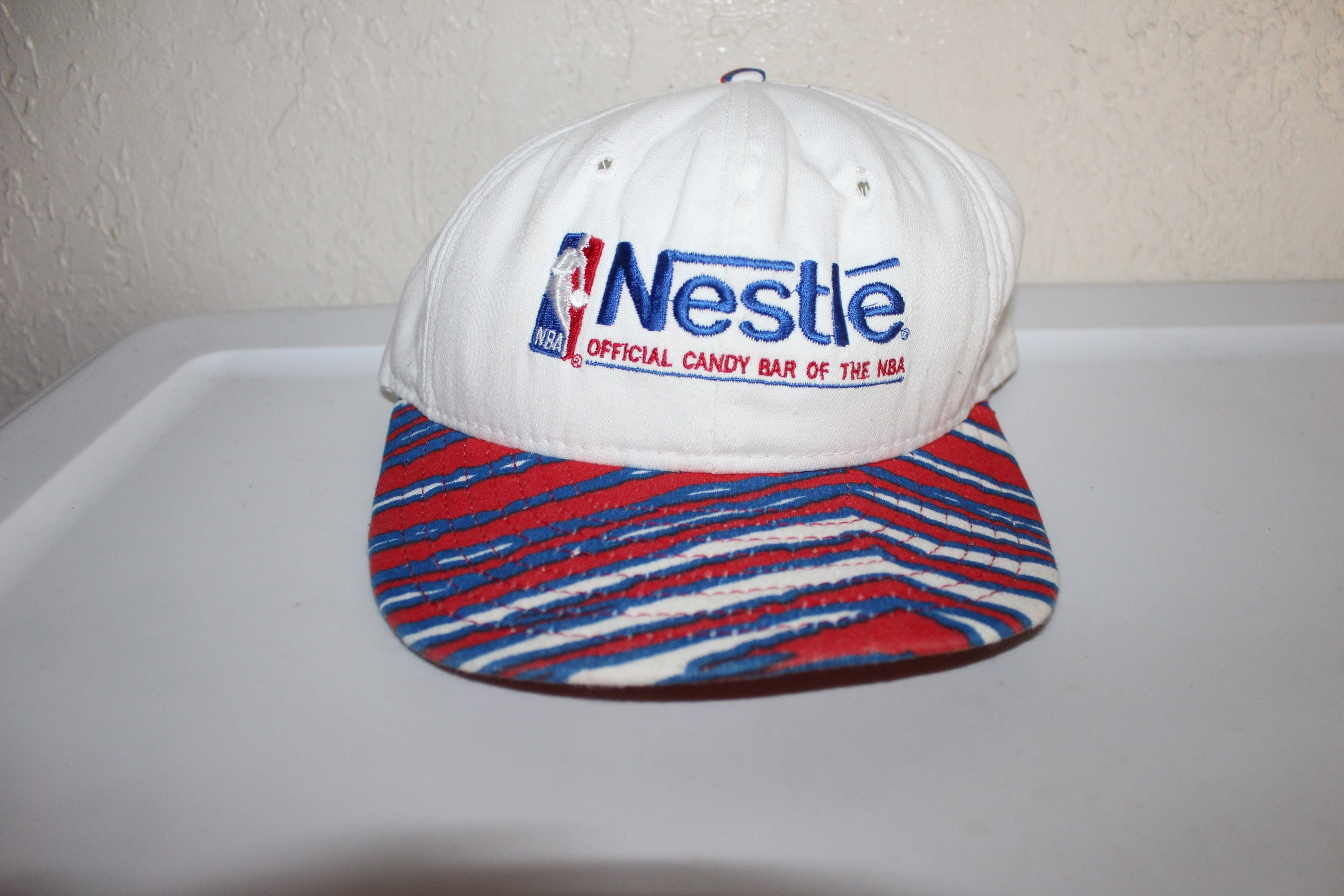 Vintage 90\'s Nestle Official Candy Bar Of The NBA Zubaz Snapback by ...