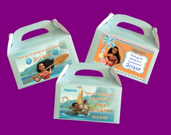 Personalized Moana Treat Boxes (3 design choices)