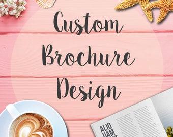Custom Brochure Design / Business Brochure / Print Design / Graphics Design / Custom product catalog / printing catalog / Bi-Fold / Tri-fold
