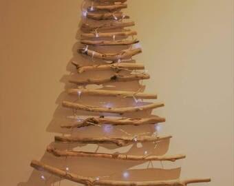 Christmas tree wall drift wood.