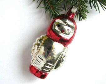 Astronaut, Rare Soviet Xmas ornament, Cosmonaut, Space, Glass Christmas tree decoration, New Year, Russian Toy, USSR, Soviet Union, 1970s