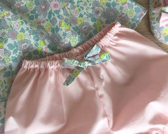 Rose Corail baby Bloomer and Liberty Betsy Lemonade