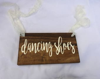 Dancing Shoes Wood Sign