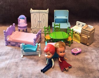 1980's Mattel The Littles set with Furniture