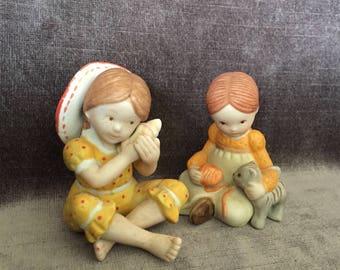 Vintage Holly Hobby mini figurines