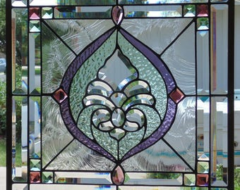 Stained Glass Window Hanging 18 X 18