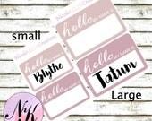 Hello my name is Sticker, Birth announcement, name announcement, hello my name is, hospital sticker, baby photo shoot, newborn, Stickers,