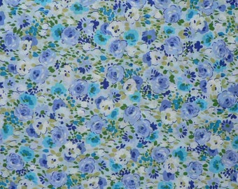 Mila cotton blue floral