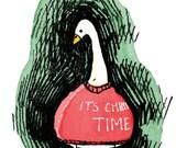 The Christmas Goose (A6 Christmas Card)