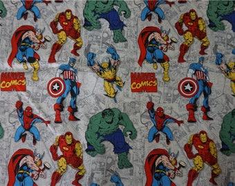 "100x110cm/39""x43"" Cool Cotton Plain Superhero The Avengers Captain America Hulk Iron Man Comics Character Fabric"