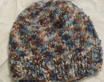 Handmade Winter Hat made with Bamboo Yarn in Camouflage Colors