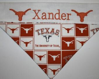 Texas Longhorns Personalized Dog Bandana