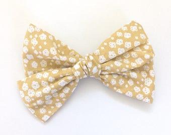 Yellow bows - handtied bows - clips - nylon headbands