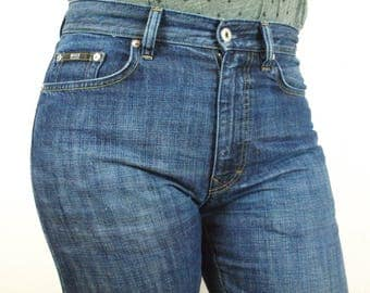 Blue Hugo Boss Jeans Denim Size W32 L34 100% Cotton Made in Egypt dark blue with faded spots excellent condition