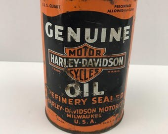 1940's Harley Davidson Oil Can