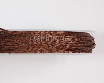 No elastic diameter 1 Brown silk thread spool mm