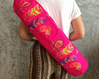 Pink Yoga Mat Bag / Yoga Bag / Yoga Mat Bag / Women's Yoga Gear / yoga gifts