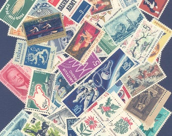 Lot of 72 Different, Mint Never used US Postage stamps from  the 5 cent era of 1963 - 1967
