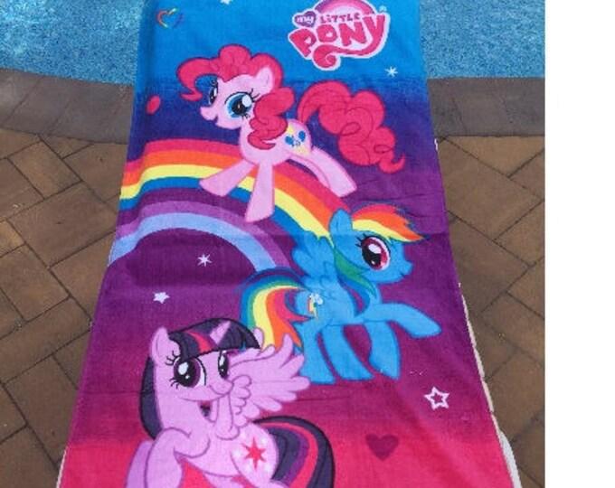 MLP My Little Pony Bath Towel Set Personalized Toddler Beach Towel