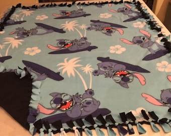 Lilo and Stitch hand tied fleece blanket