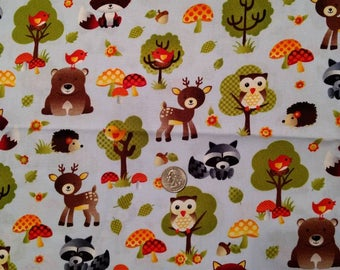 Woodland Animals Children's Fabric
