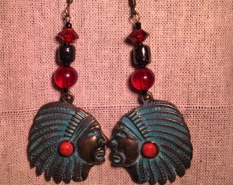 Native American cheif earrings