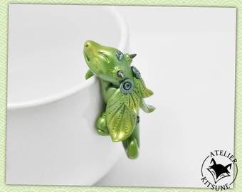 Dragothe - Light green Dragon tea bag clip