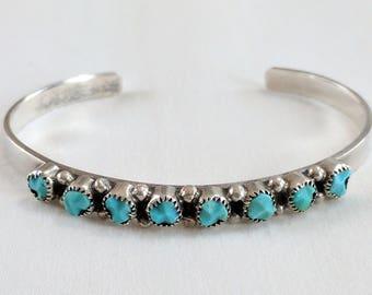 Southwest sterling & turquoise cuff bracelet