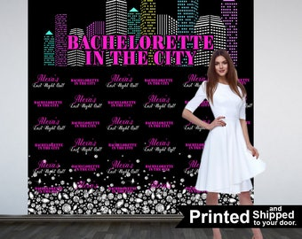 Bachelorette in the City Personalized Photo Backdrop - Birthday in the City Photo Backdrop- Printed Photo Backdrop, NYC Photo Booth Backdrop