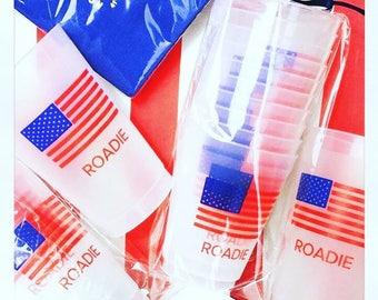 Flag Roadie 16 or 24 oz pack of ten