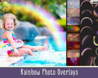Rainbow Overlays, rainbow PNG, transparent, Realistic rainbow,Photo effect, rainbow sky, photoshop actions, clipart, clip art, mini session