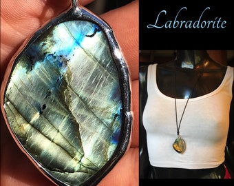 Flashy Labradorite Necklace