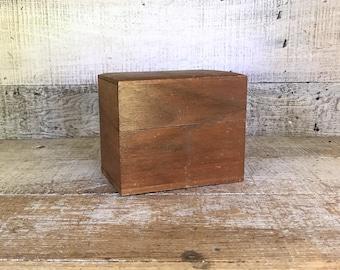 Recipe Box Wood Recipe Box Antique Recipe Box Wood File Index Box Meadu0027s  Diet Materials Hinged