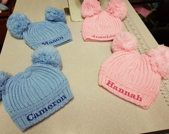 personalised pom pom hats