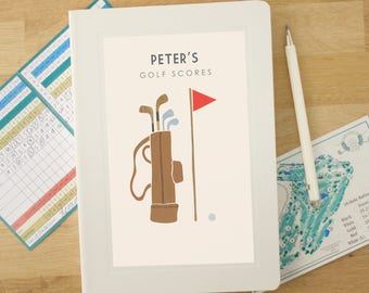 Personalised Golf Notebook (2 Designs Available)