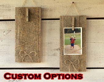 Reclaimed Wood Picture Frame, 4 x 6 Barnwood Frame, Barnwood Wall Sconces, Barnwood Wall Hanging, Wooden Picture Frame, Barnwood Frames