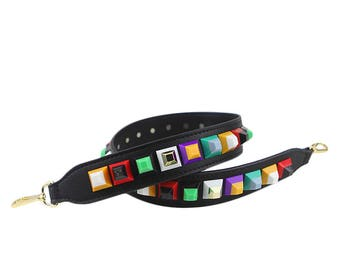 Bag Straps 90cm * 4cm black leather Removable Purse Strap Interchangeable Strap Replacement Handle Chain SS027