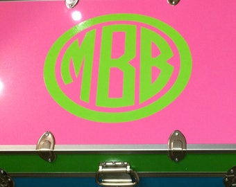 Personalized Summer Camp Trunk Vinyl Monogram Decal High Quality DIY