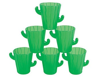 12/Cactus Party disposable cups  / cactus theme/ cactus party / fiesta party/ fiesta