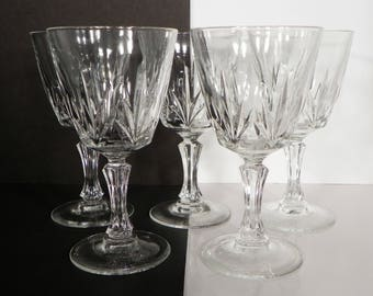 Cristal d'Arques Durand Palmes Port Wine Goblet (s) LOT OF 5 Glass Barware
