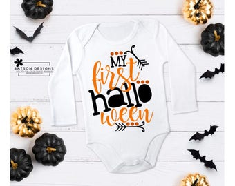 my first halloween one piece bodysuit babys halloween outfit boys or girls october halloween - Halloween My Picture