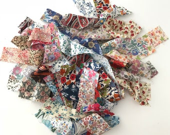 Liberty Fabric Mixed Bag (#1) 50g - 1.5 inch strips